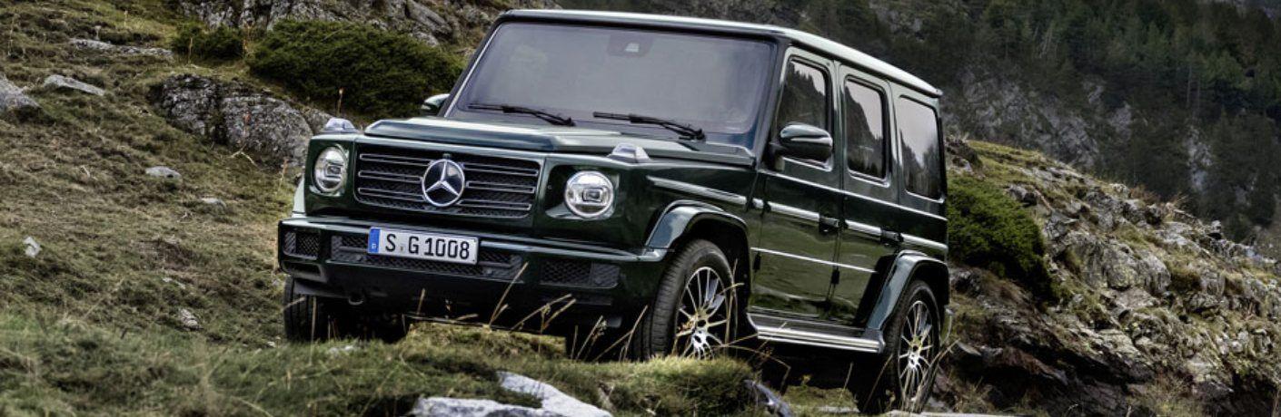 2019 Mercedes-Benz G-Class driving on rugged terrain