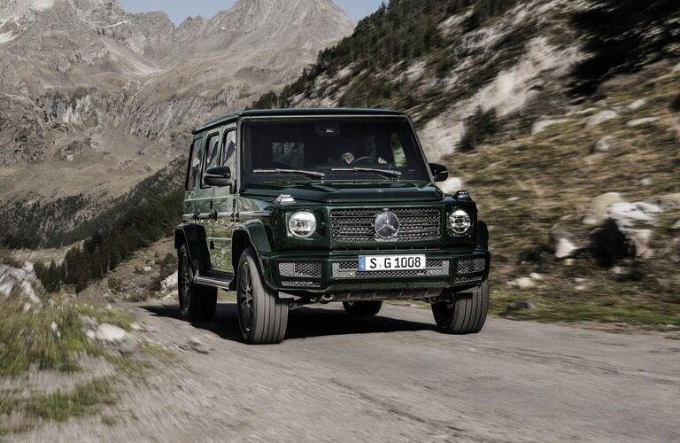 2019 Mercedes-Benz G-Class driving on dirt road
