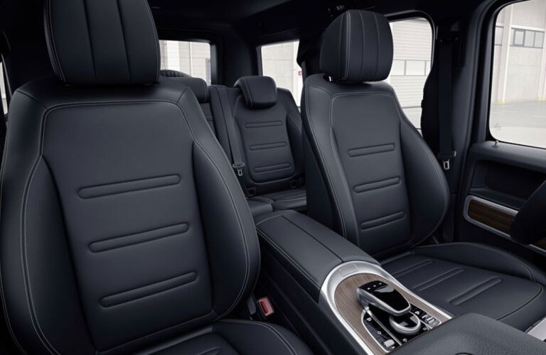 Interior seating in the 2019 Mercedes-Benz G-Class