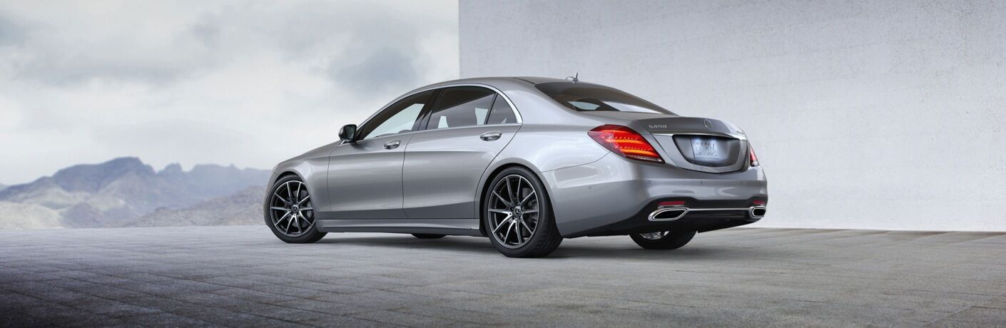 Side view of a gray 2019 Mercedes-Benz S-Class