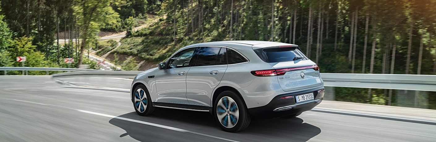 2020 Mercedes-Benz EQC silver back side view