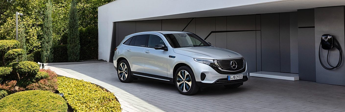 2020 Mercedes-Benz EQC silver front side view