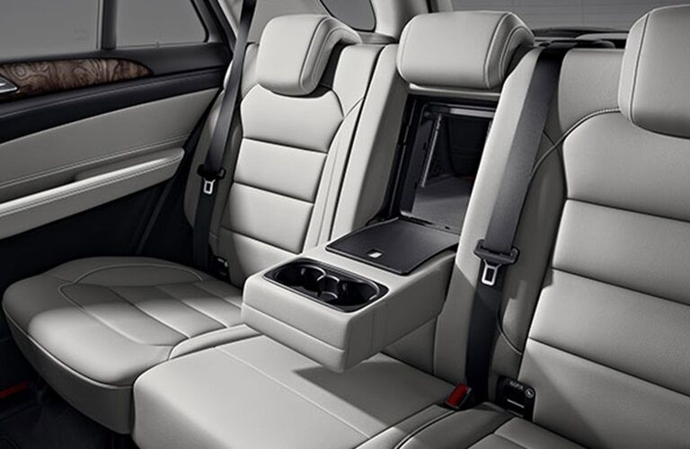 Rear seats in a 2018 Mercedes-Benz GLE