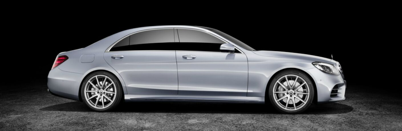 New silver 2018 Mercedes-Benz S-Class Sedan