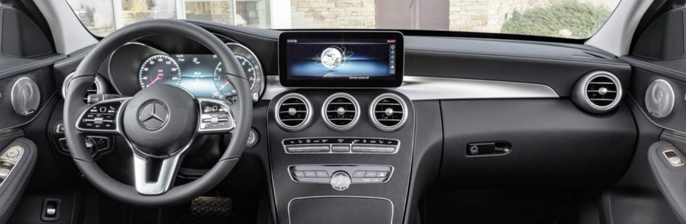 Cockpit view of a 2019 Mercedes-Benz C-Class