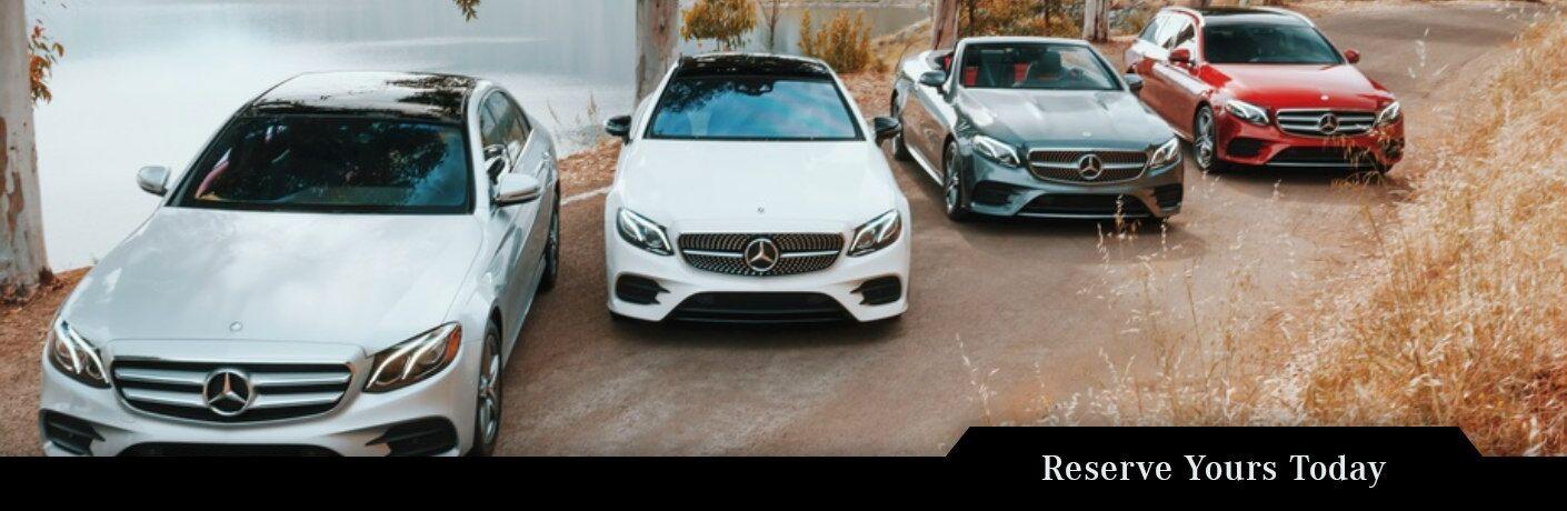 2019 Mercedes-Benz E-Class models in a line
