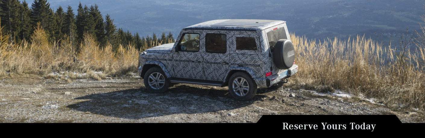 2019 Mercedes-Benz G-Class parked cliffside