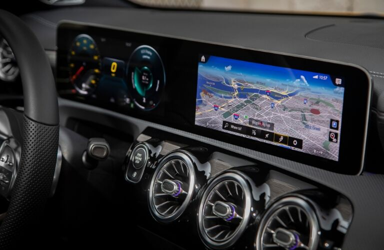 12.3-inch display on 2020 Mercedes-Benz CLA