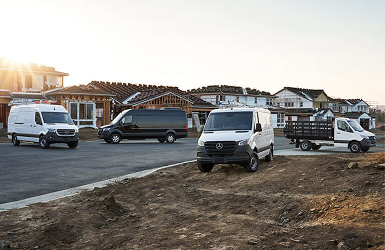 2019 Mercedes-Benz Vans parked outside at site