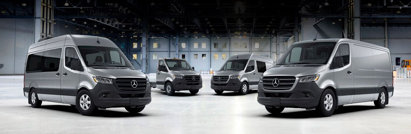 2019 Mercedes-Benz Sprinter's parked in warehouse