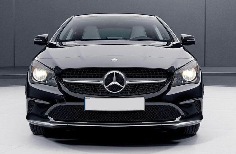 black 2017 Mercedes-Benz CLA front end design