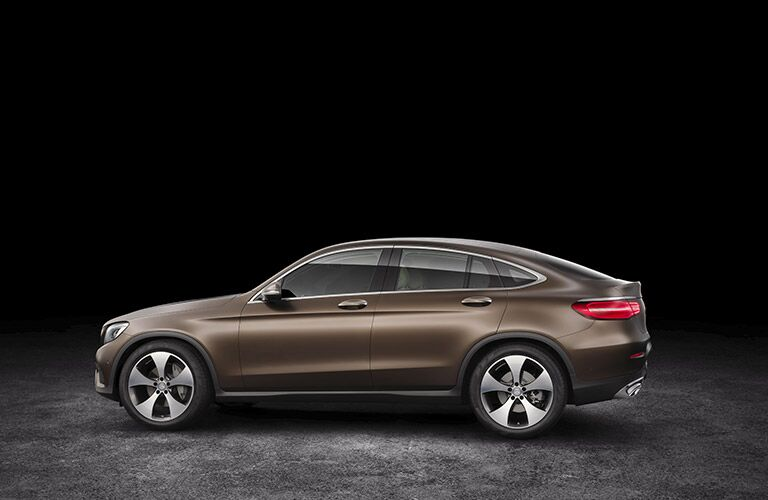 brown 2017 Mercedes-Benz GLC side profile