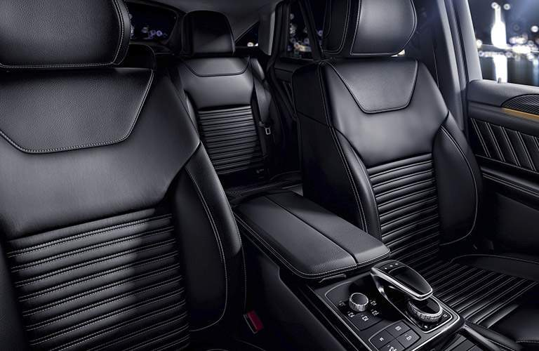 2018 mercedes-benz gle 350 suv shown from interior with center console and comand module visible