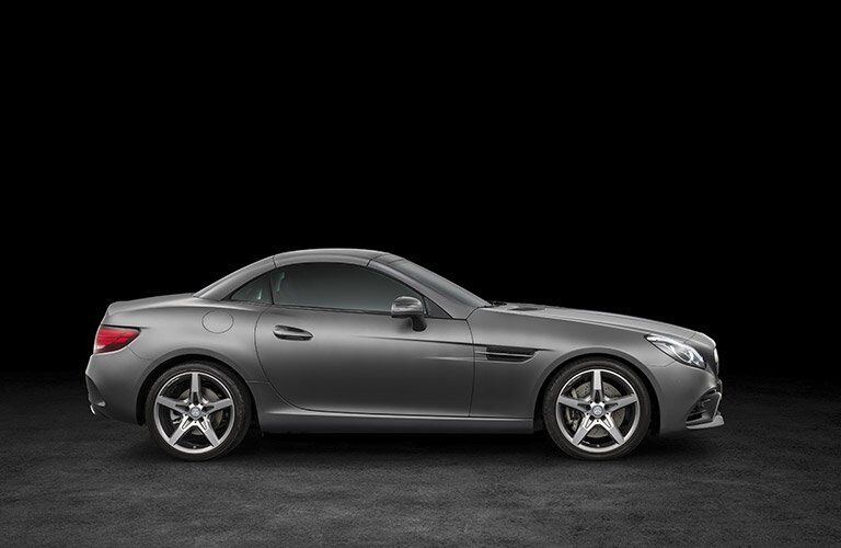 gray 2017 Mercedes-Benz SLC side profile