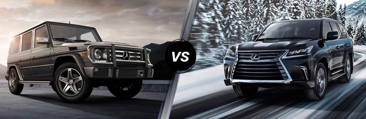 2017 Mercedes-Benz G-Class vs 2017 Lexus LX