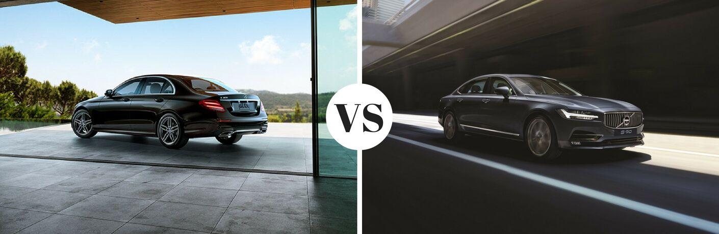 2017 Mercedes-Benz E-Class vs 2017 Volvo S90