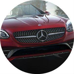 2017 Mercedes-Benz SLC front grille