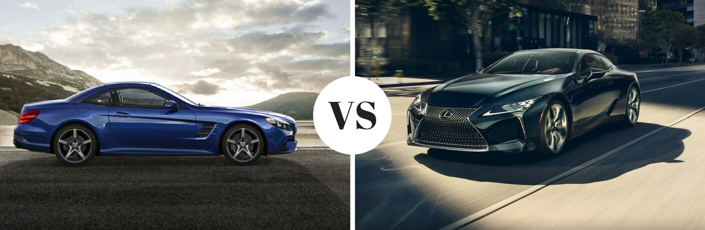 2017 Mercedes-Benz SL 450 vs 2018 Lexus LC 500
