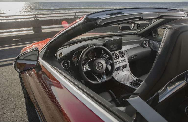 cabriolet view with top down 2018 mercedes benz c class cabriolet convertible long island city ny