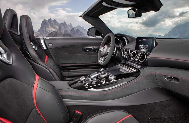 2018 Mercedes-AMG GT C trim interior side shot front seating