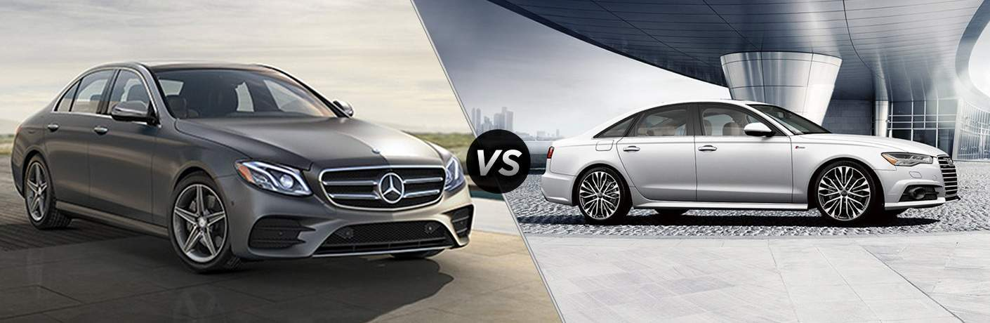 comparison between 2018 mercedes-benz e-class sedan and audi a6 sedan