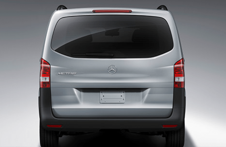 2018 Mercedes-Benz Metris Worker Passenger Van Closed Trunk Shot with Gray Paint and a Gray Blank Exterior