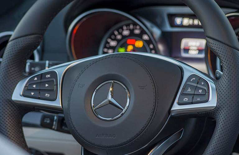 2018 Mercedes-Benz SL Roadster close up of steering wheel