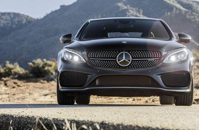 2018 Mercedes-Benz C-Class front exterior shot of fascia in desert plains