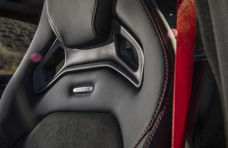 2018 Mercedes-Benz C-Class closeup of driver's seat top