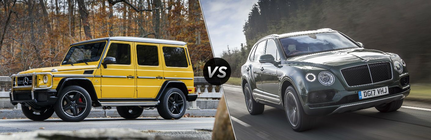 2018 Mercedes-Benz G-Class vs 2018 Bentley Bentayga