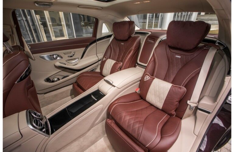 2018 Mercedes-Maybach luxury sedan interior back seating upholstery comfort