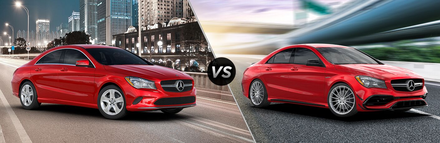 2019 Mercedes-Benz CLA 250 Coupe vs 2019 Mercedes-AMG 45 Coupe