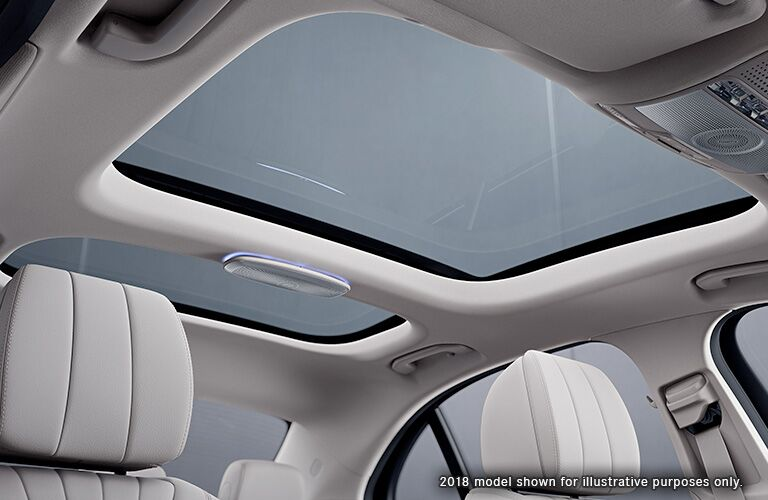2019 Mercedes-Benz E-Class sunroof view represented by 2018
