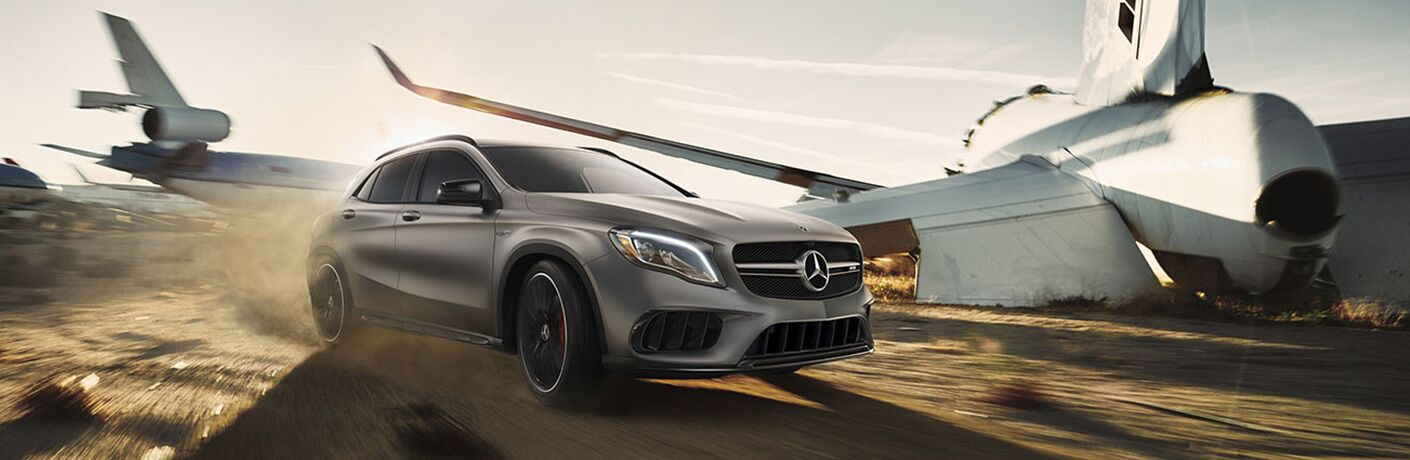 2019 Mercedes-Benz GLA driving on the road