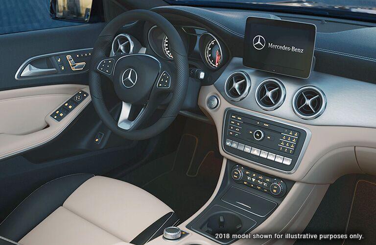2018 Mercedes-Benz GLA interior front representing 2019