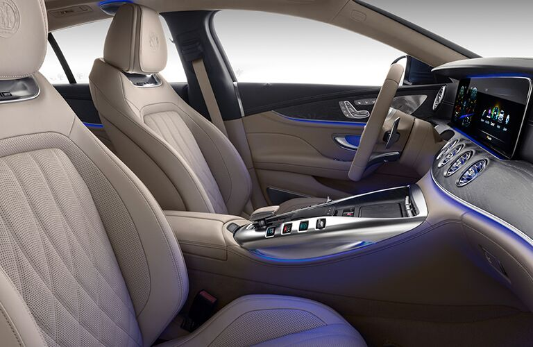 2019 Mercedes-Benz AMG GT interior side shot of seating upholstery