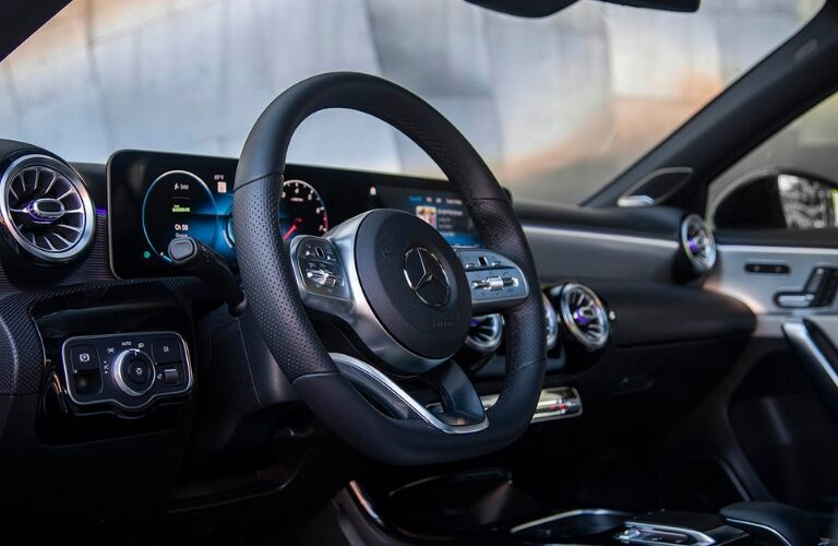 2019 Mercedes-Benz A-Class dash and wheel