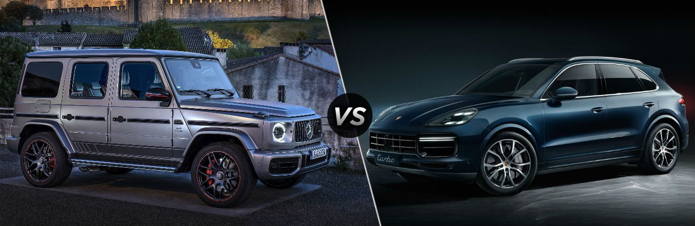 2019 Mercedes-Benz G-Class AMG G 63 vs 2019 Porsche Cayenne Turbo