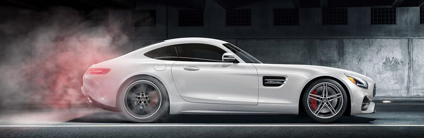 2020 Mercedes-Benz AMG GT Coupe from exterior passenger side