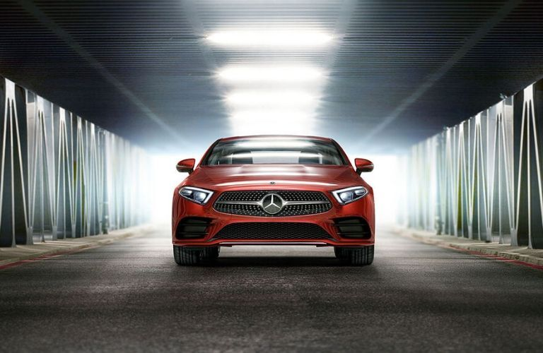 2020 Mercedes-Benz CLS in tunnel from exterior front