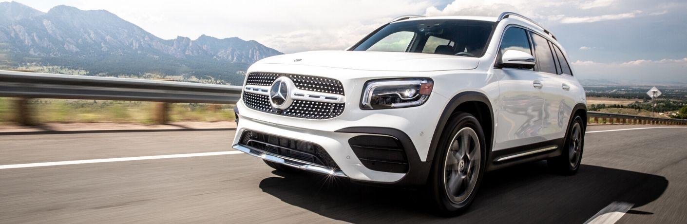 2020 Mercedes-Benz GLB driving down road