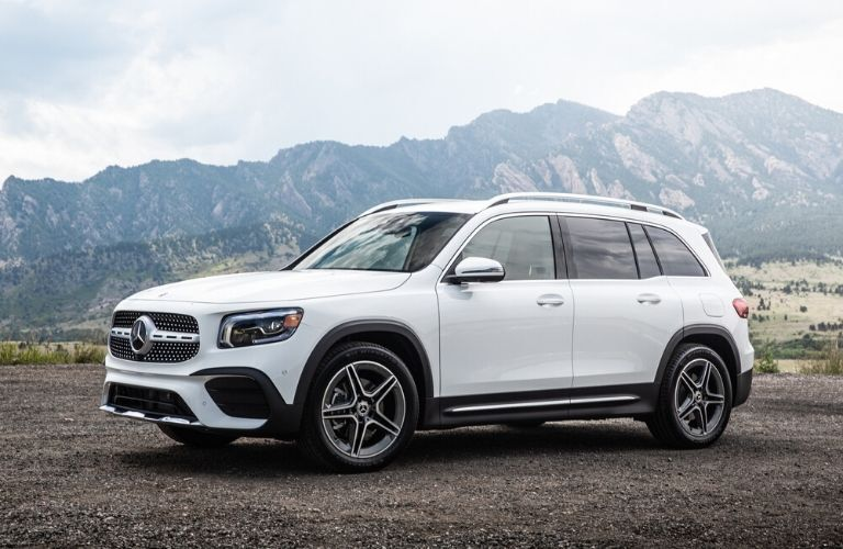 2020 Mercedes-Benz GLB parked in front of hills