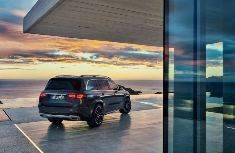 2020 Mercedes-Benz GLS parked in front of pool