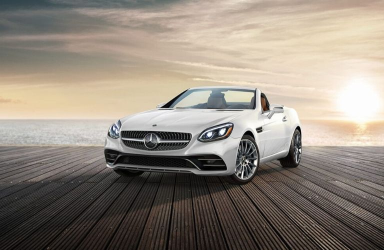 2020 Mercedes-Benz SLC parked on dock