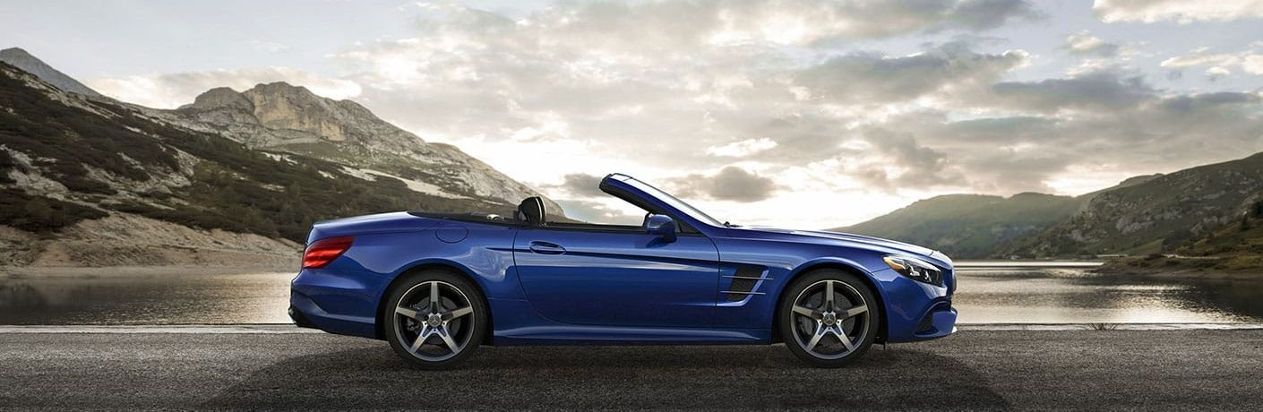 2020 Mercedes-Benz SL parked in front of water from exterior passenger side