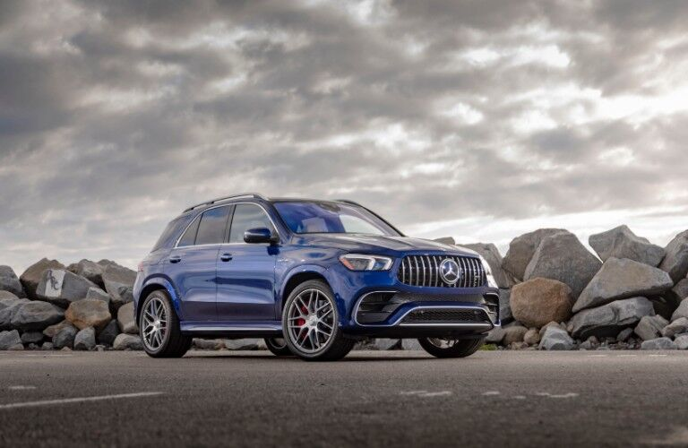 2021 Mercedes-AMG GLE 63 S in front of rocks