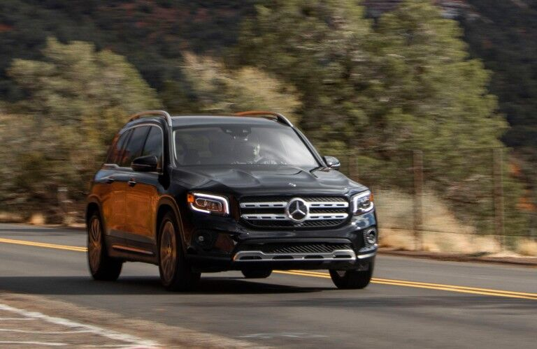 2021 Mercedes-Benz GLB from exterior front on road