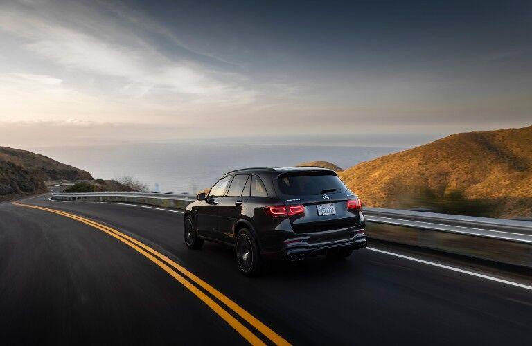 2021 Mercedes-Benz GLC SUV driving on highway