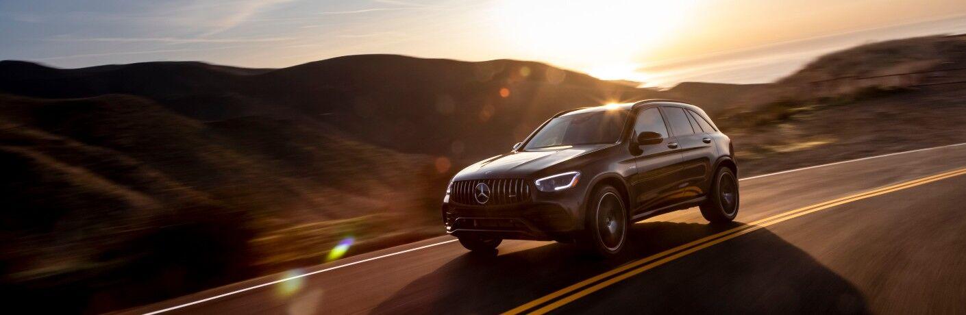 2021 Mercedes-Benz GLC SUV with hills in background