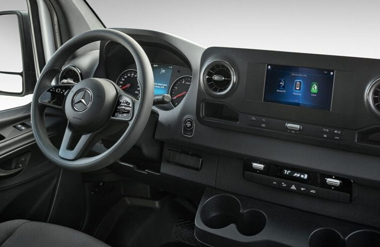 Dash in 2020 Mercedes-Benz Sprinter van